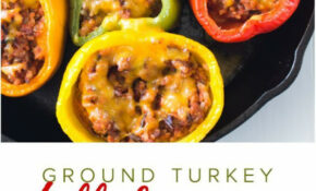 EASY GROUND TURKEY STUFFED PEPPERS!!! | Turkish Foods