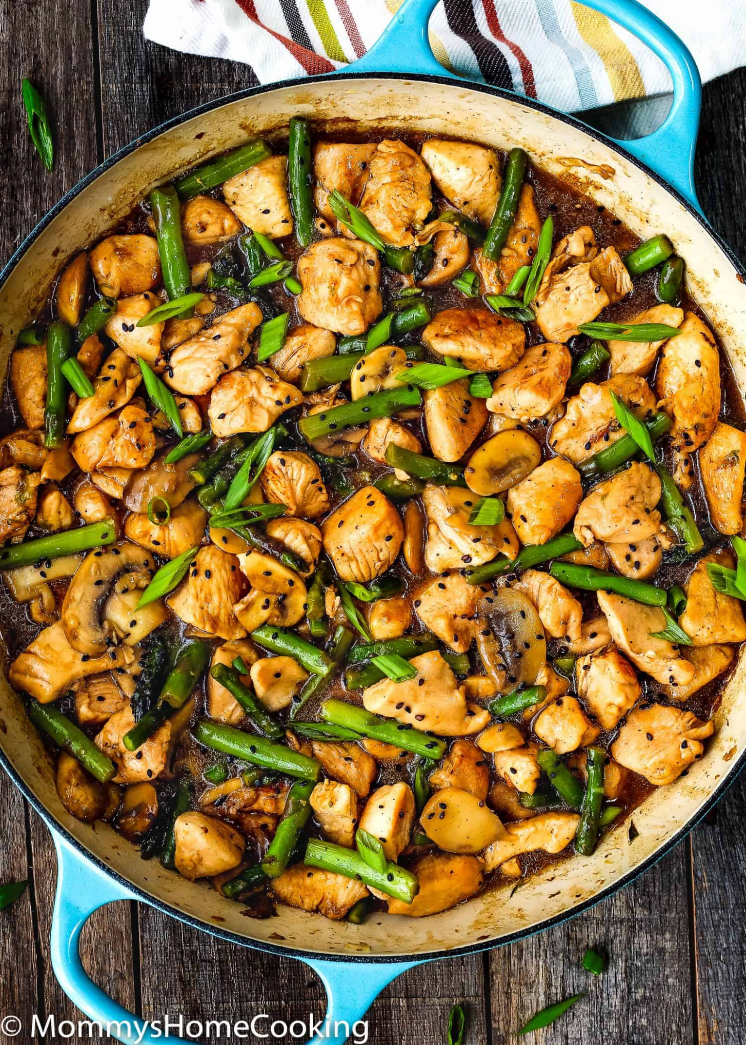 Easy Healthy Chicken and Asparagus Skillet - quick healthy recipes dinner