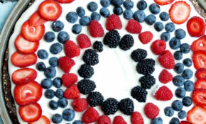 Easy & Healthy Fruit Dessert Pizza – Happy Healthy Mama – Healthy Fourth Of July Recipes