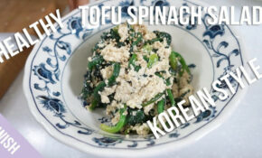 Easy Healthy Recipes: Vegan Spinach Tofu Salad (Korean Style ..