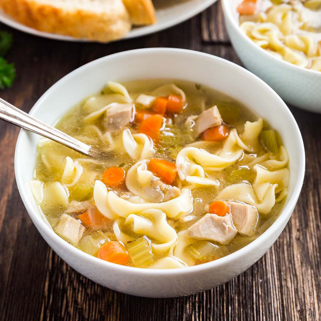 Easy Homemade Chicken Noodle Soup Recipe - noodle recipes chicken
