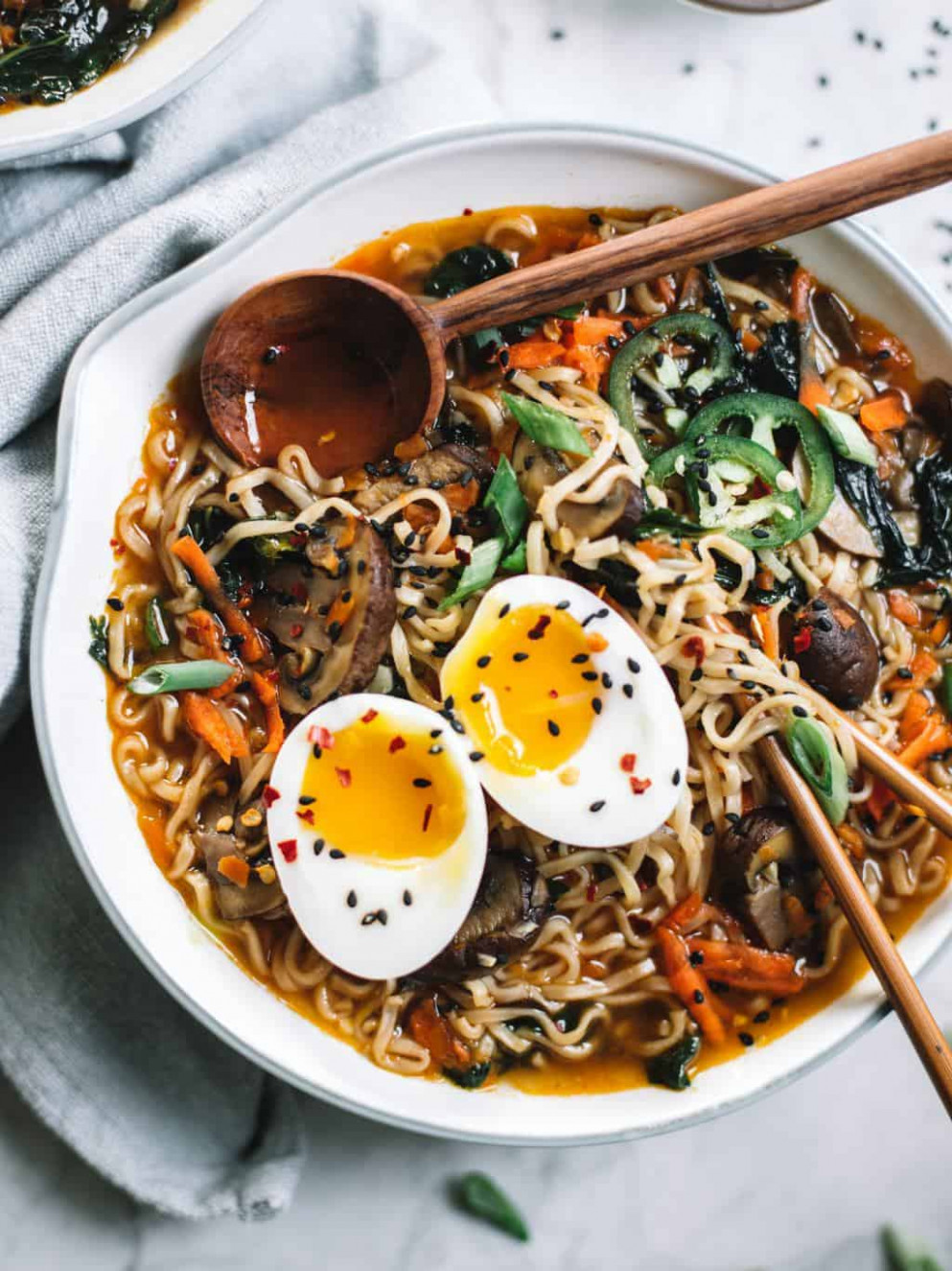 Easy Homemade Healthy Ramen Bowls - College Housewife - healthy ramen recipes