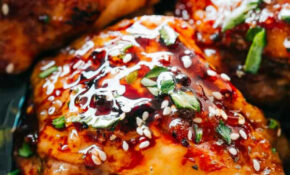 Easy Instant Pot Sticky Chicken Thighs Recipe | Diethood – Easy Instant Pot Recipes Chicken