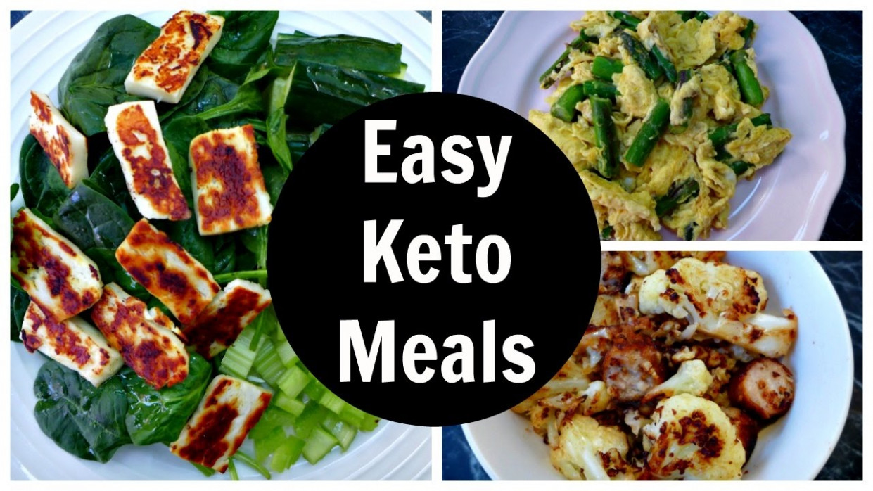 Easy Keto Meals - Full Day of Low Carb Ketogenic Diet ..