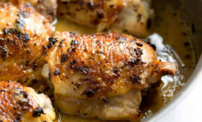 Easy Lemon Chicken Thighs With Herbs – Chicken Recipes Juicy