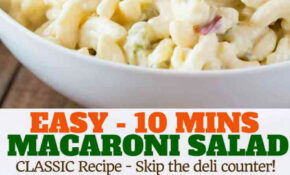 Easy Macaroni Salad – Dinner, Then Dessert – Dinner Recipes You Can Make The Night Before