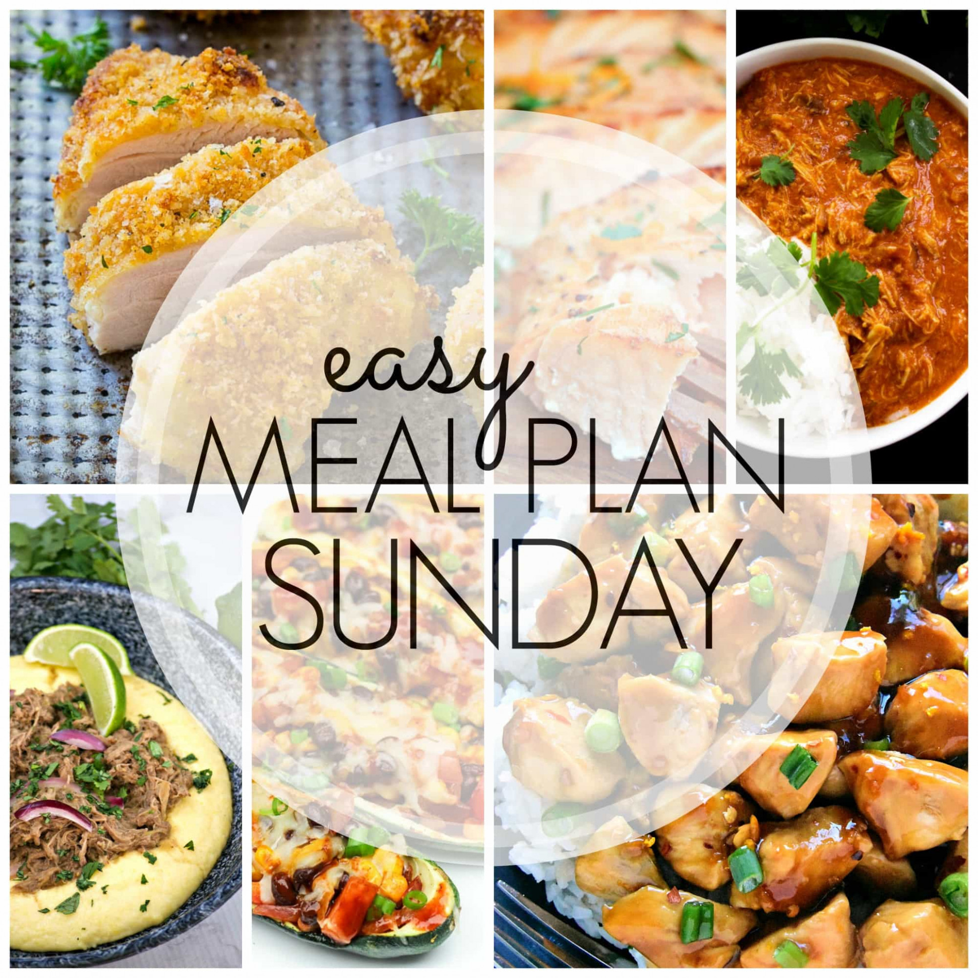 Easy Meal Plan Sunday Week 13 - A Dash of Sanity - recipes pinterest dinner