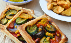 Easy Mediterranean Tart Recipe - Tinned Tomatoes