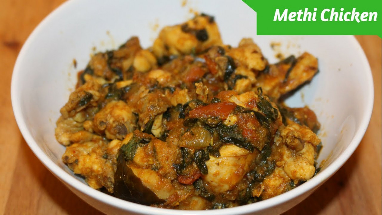 Easy Methi Chicken Recipe-Chicken Methi Curry-Harshis ..