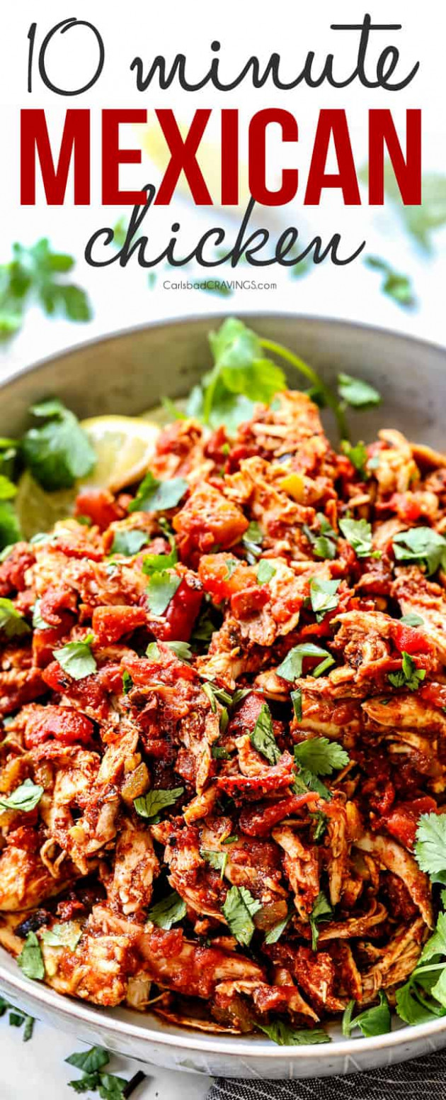 EASY Mexican Chicken - Recipes Diced Chicken