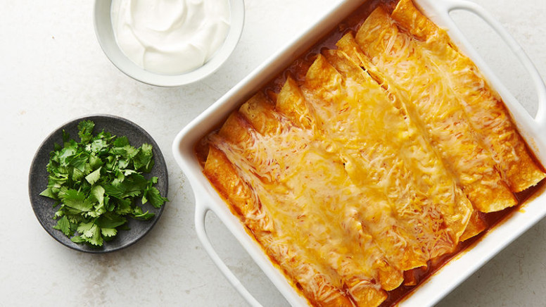 Easy Microwave Chicken Enchiladas Recipe - Tablespoon