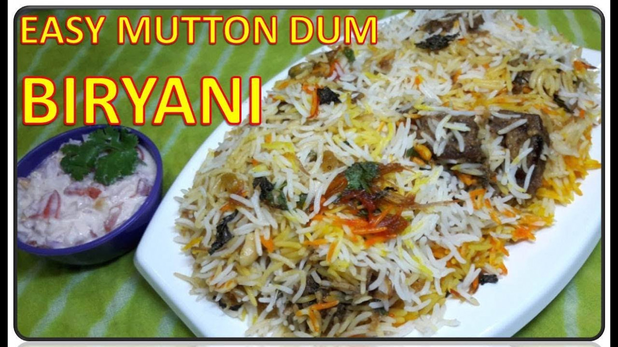 Easy Mutton Dum Biryani | Recipe | BY FOOD JUNCTION - food junction recipes