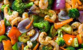 Easy One Pan Roasted Shrimp And Veggies | Recipe | Recipes ..
