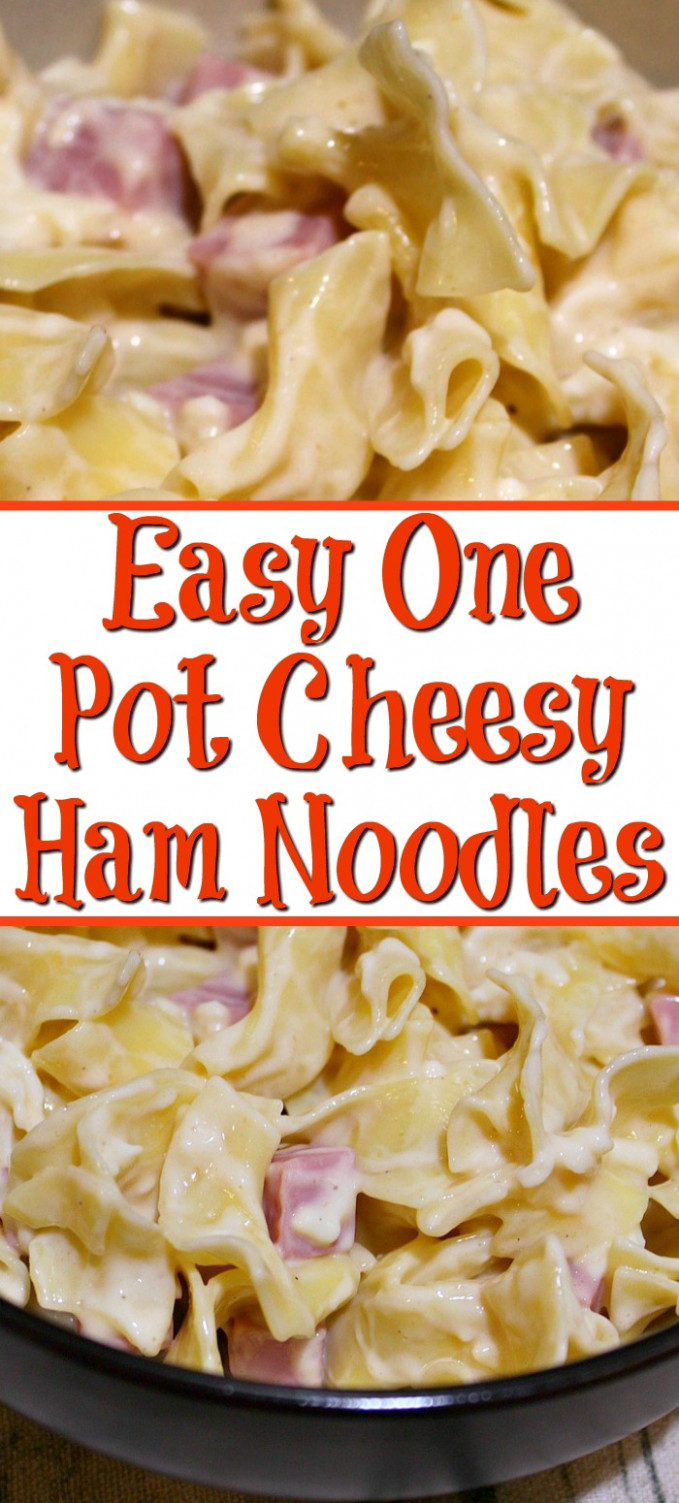 Easy One Pot Cheesy Ham Noodles - Cook Eat Go - recipes night dinner