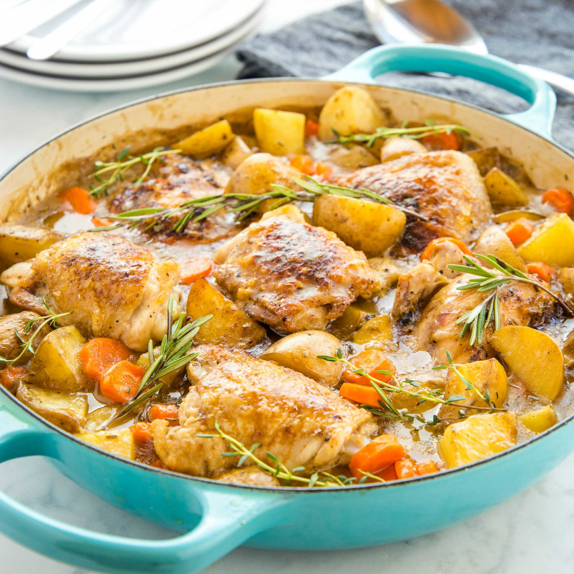 Easy One Pot Roasted Chicken Dinner - recipes with chicken