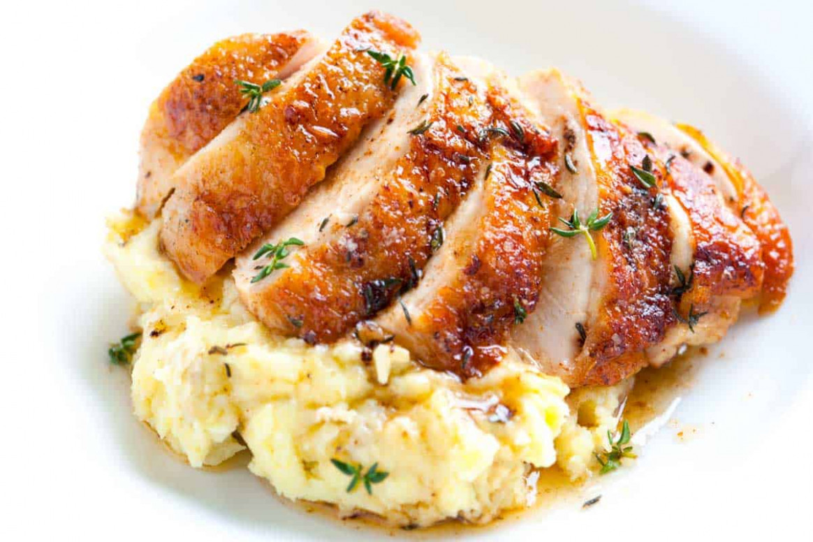Easy Pan Roasted Chicken Breasts with Thyme - easy recipes chicken