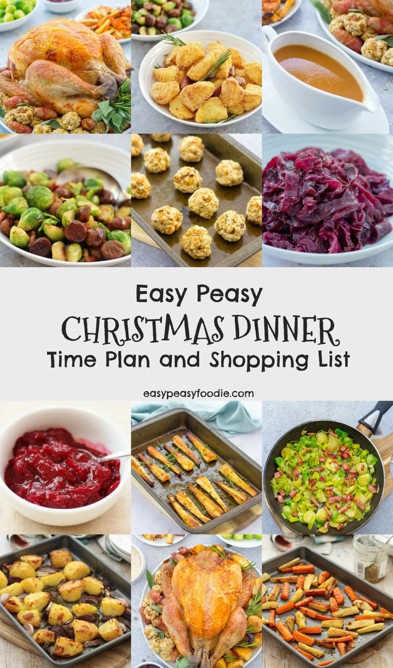 Easy Peasy Christmas Dinner Time Plan and Shopping List ..