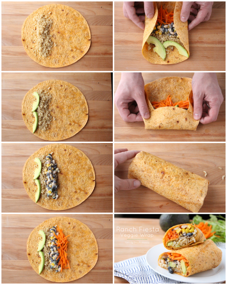 Easy Ranch Fiesta Veggie Wrap - Family Fresh Meals - recipes vegetarian family