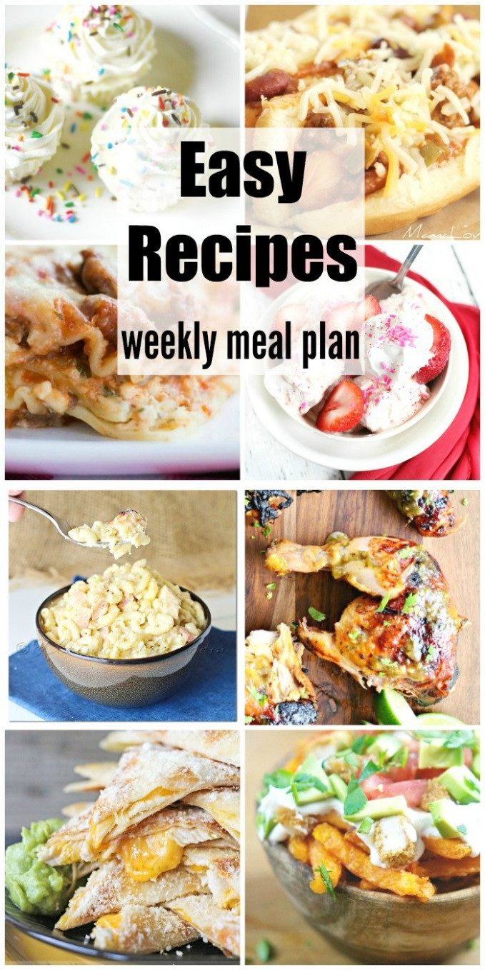 Easy Recipes Weekly Meal Plan Week 10 - Kleinworth & Co - dinner recipes quick family