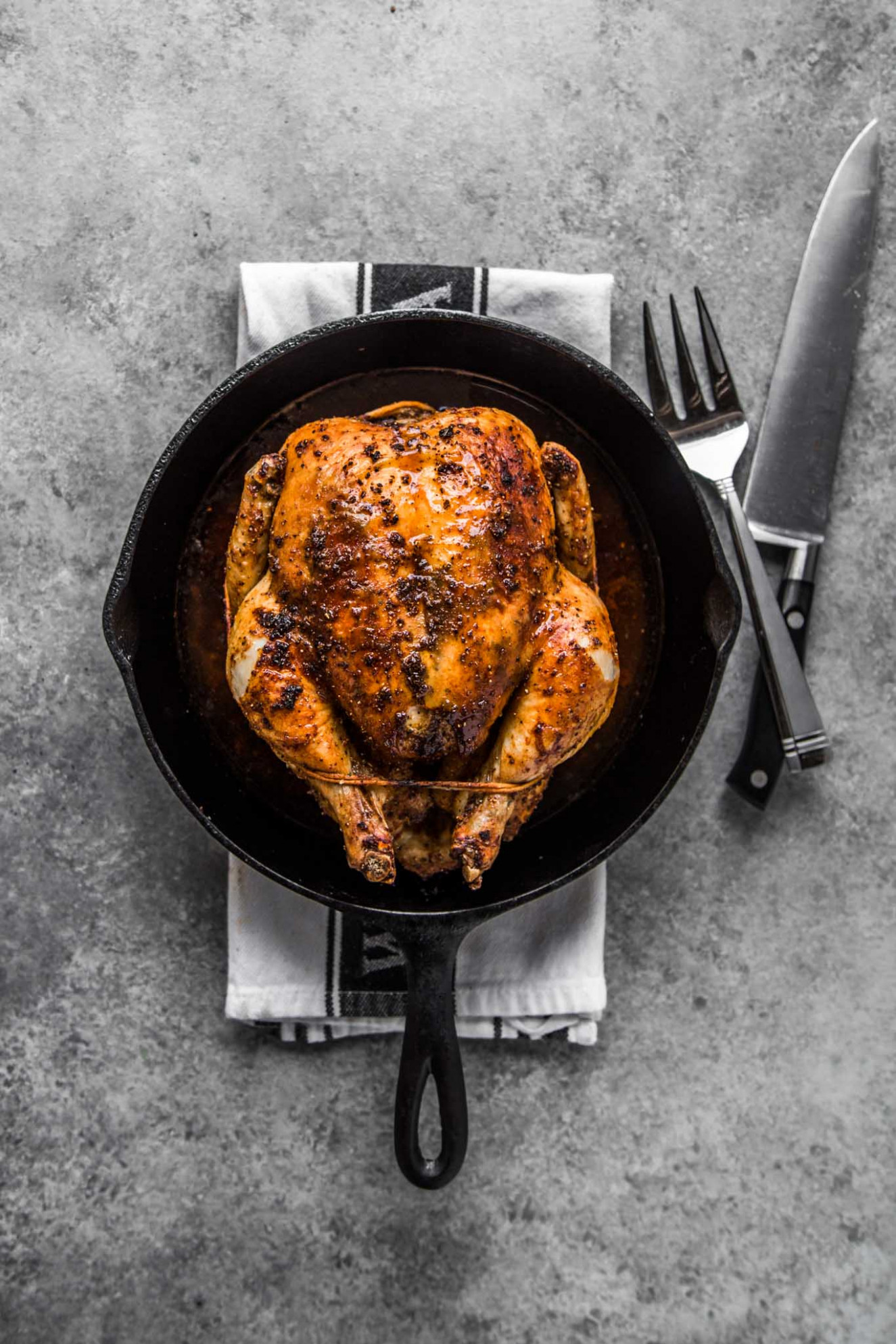 Easy Roasted Chicken + VIDEO | Platings + Pairings - Chicken Recipes Cast Iron