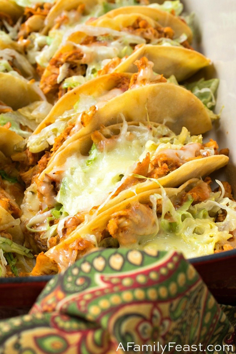 Easy Rotisserie Chicken Tacos - A Family Feast® - Chicken Recipes To Feed A Crowd