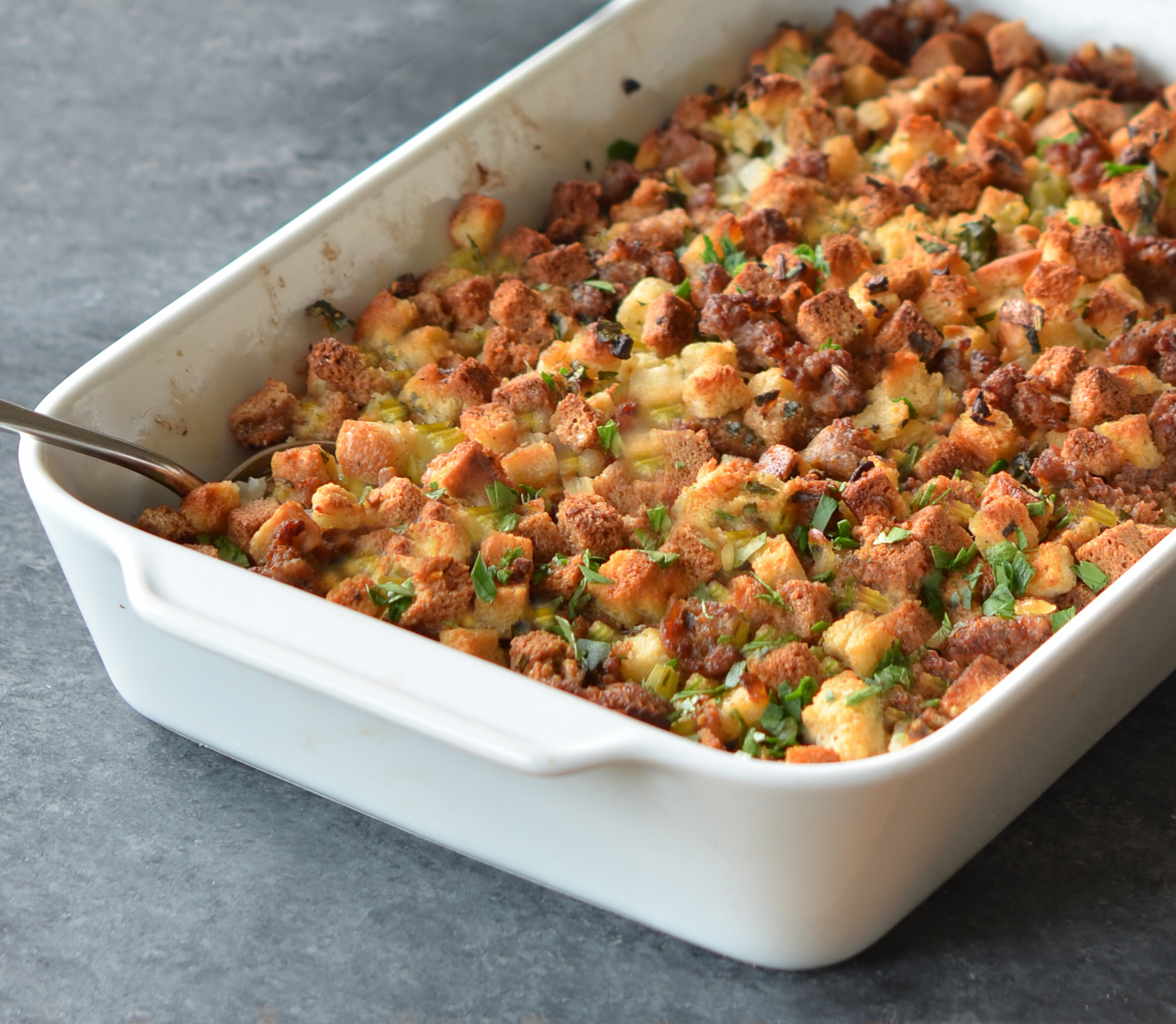 Easy Sausage & Herb Stuffing - dinner recipes jimmy dean pork sausage