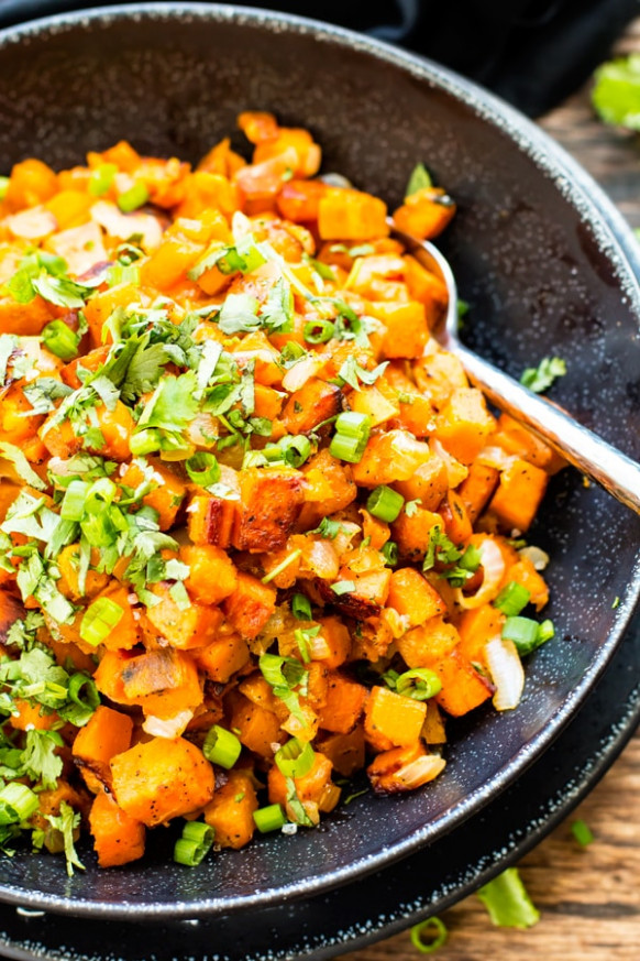 Easy Skillet Sweet Potatoes With Cilantro | Gluten Free ..