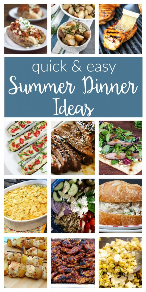 Easy Summer Dinner Ideas - Merry Monday #156 - two purple ...