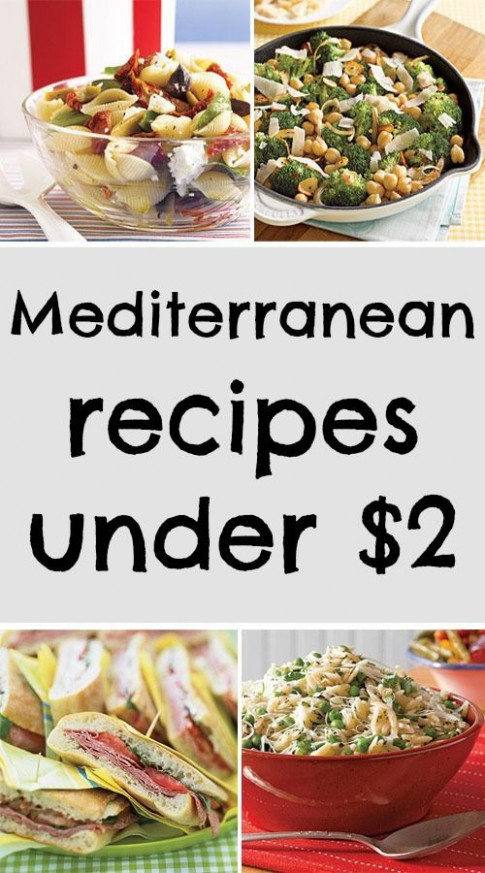 Easy to make Mediterranean recipes under $2! | Quick and ..