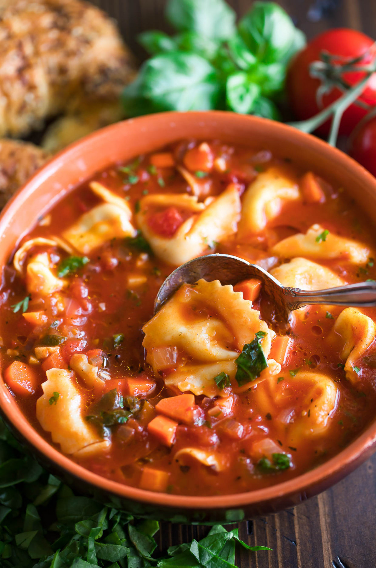Easy Tortellini Soup - easy soup recipes vegetarian