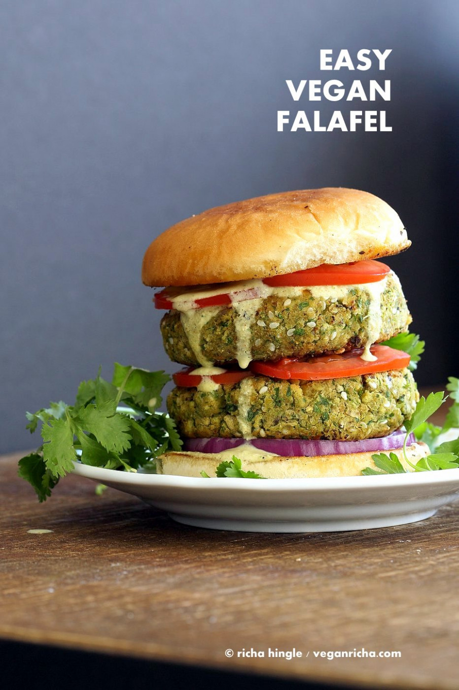 Easy Vegan Falafel Burger Recipe - Vegan Richa - recipes vegetarian burgers