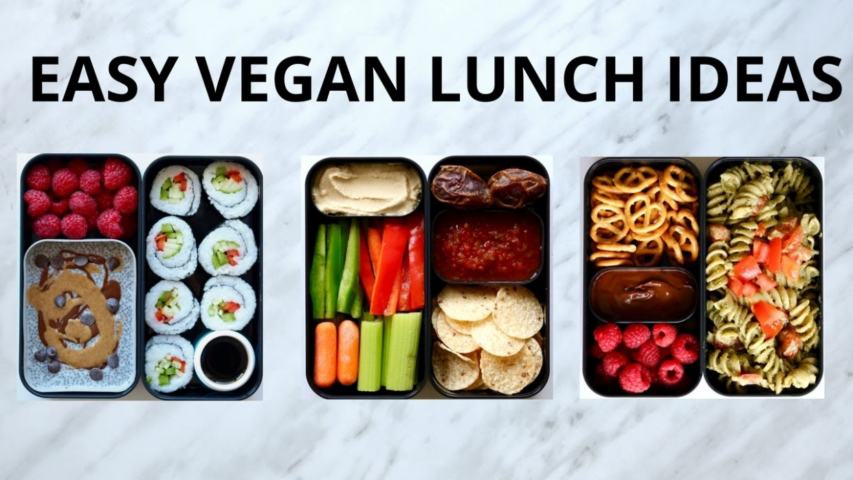 EASY VEGAN LUNCH IDEAS (BENTO BOX) - vegetarian japanese bento box recipes