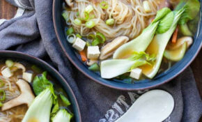 Easy Vegan Miso Soup With Noodles And Vegetables – Recipe Vegetarian Rice Noodles