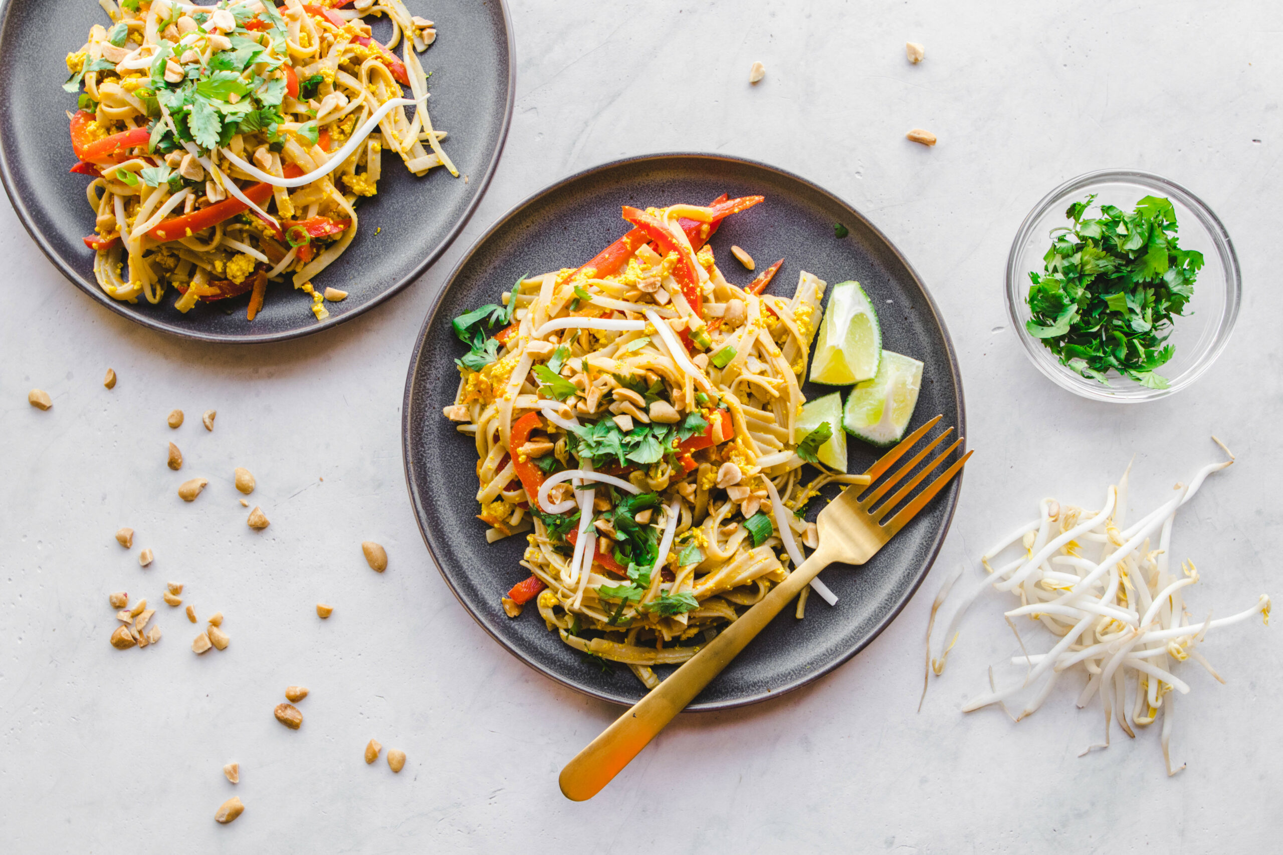 Easy Vegan Pad Thai (in 12 Minutes!) - From My Bowl - Authentic Thai Food Recipes With Pictures