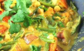 Easy Vegetable Curry With Chickpeas • Holy Cow! Vegan Recipes – Recipe Vegetarian Indian Curry