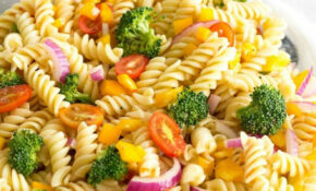 Easy Vegetable Pasta Salad With Italian Dressing ..