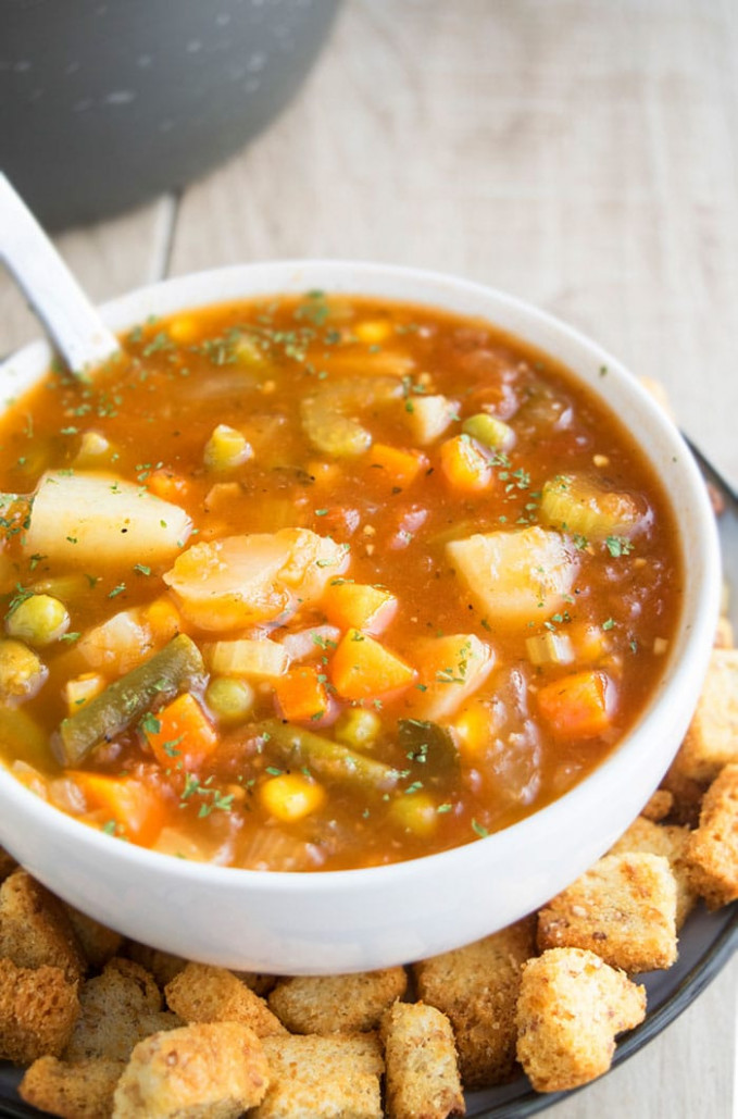 easy vegetable soup recipe - recipes for vegetarian soup