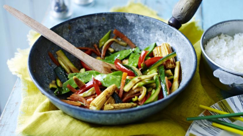 Easy vegetable stir-fry recipe - BBC Food - stir fry recipes vegetarian