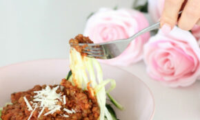 Easy Vegetarian Lentil Bolognese With Zucchini Noodles ..
