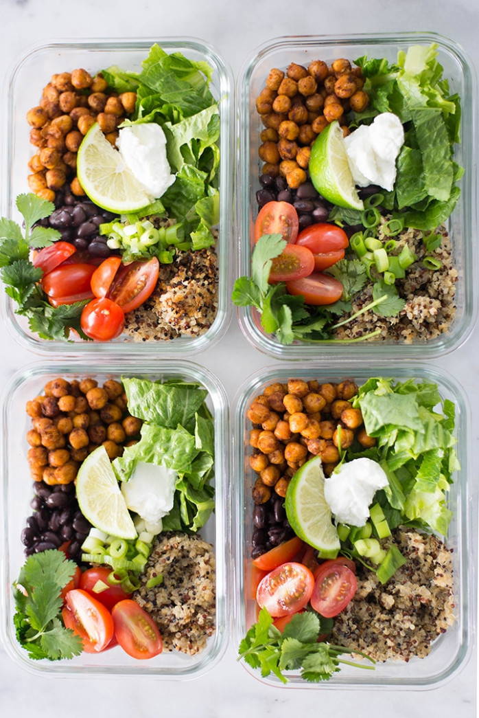 Easy Vegetarian Meal Prep: Chipotle Chickpea Taco Bowls ..
