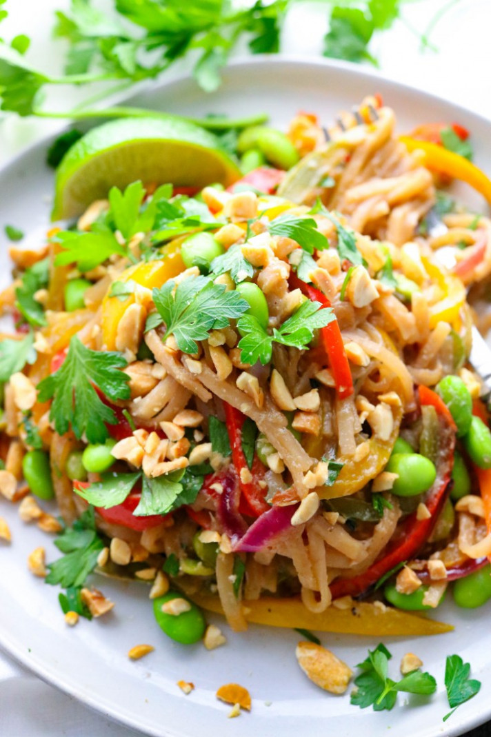 Easy Vegetarian Pad Thai - noodle recipes vegetarian