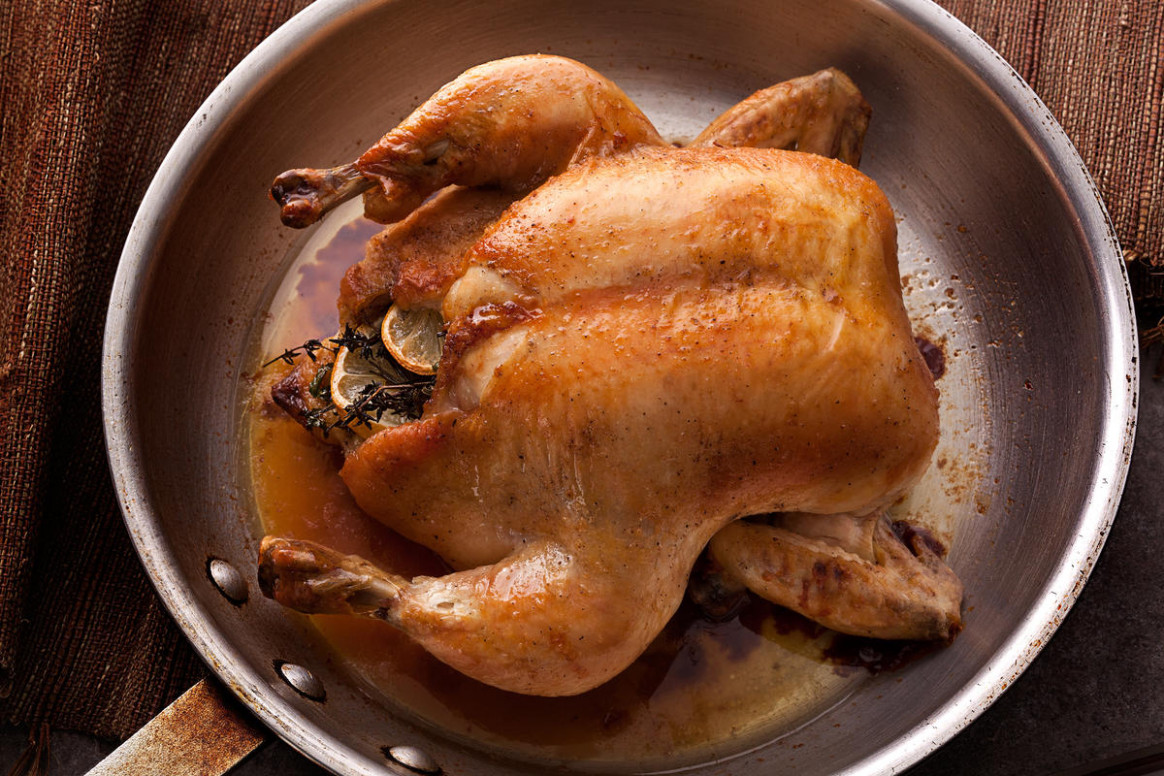 Easy Whole Roasted Chicken - healthy recipes using rotisserie chicken