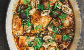 Easy Wine Braised Chicken Thighs With Mushrooms – Dinner Recipes Chicken Thighs