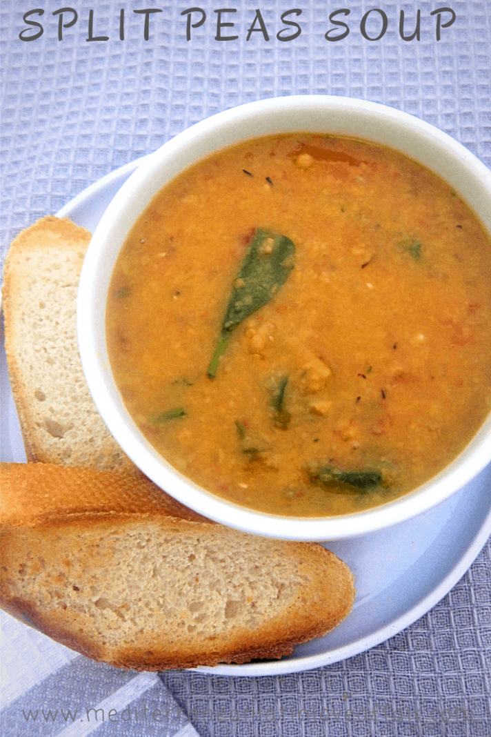Easy Yellow Split Peas Soup with Spinach - Mediterranean ..