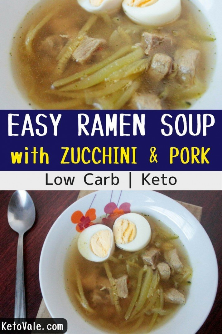 Easy Zucchini Pork Ramen Soup Low Carb Recipe | Keto Vale - dinner recipes keto diet