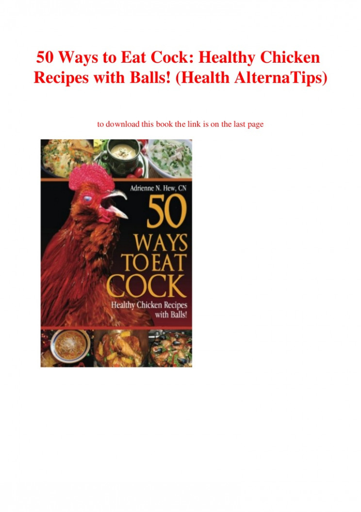 EBOOK [PDF] 10 Ways To Eat Cock Healthy Chicken Recipes With ..