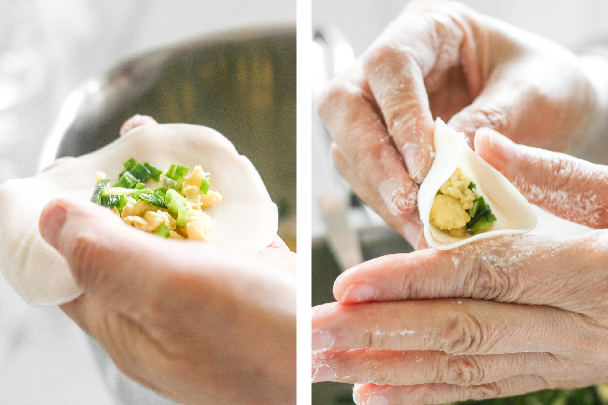 Egg and Chive Vegetarian Dumplings | Ahead of Thyme - recipe vegetarian dumplings chinese