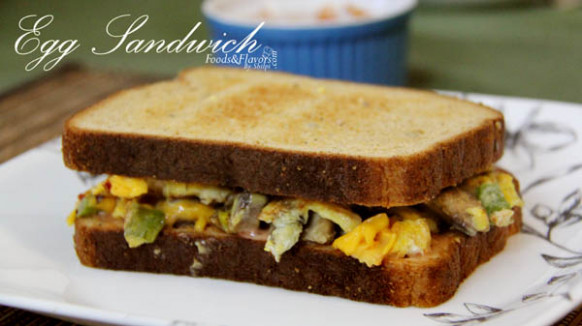 Egg cheese sandwich Recipe | Indian Breakfast Recipes ..