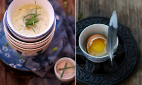 Egg Drop Soup Diptych – Recipes Vegetarian Chinese