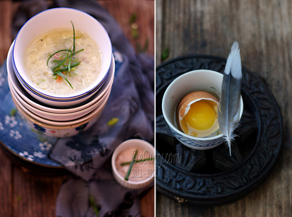 Egg Drop Soup Diptych - recipes vegetarian chinese
